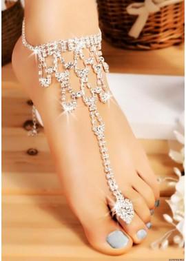 Glamorous Rhinestones Anklets