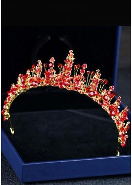 Red Crystal Rhinestone Tiaras
