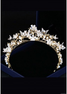 Butterfly Flower Crystal Tiaras