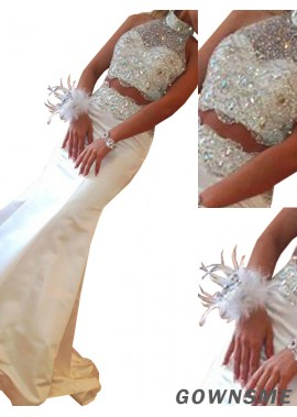 Gownsme Two Piece Long Mermaid Long Prom Evening Dress