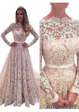 Gownsme 2021 Latest Lace A Line Wedding Dresses Size 10