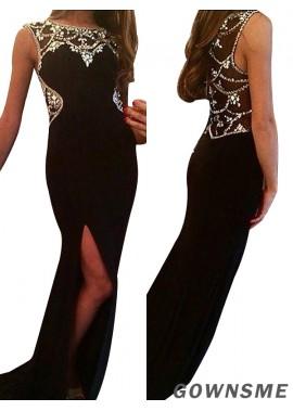 Gownsme Best Fashion Black Prom Evening Dresses