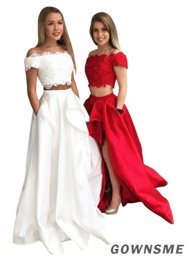 Gownsme Two Piece Long Prom Evening Dress