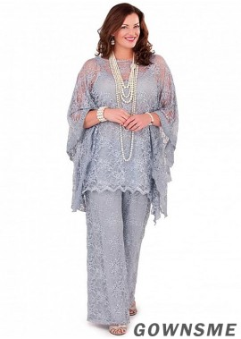 Full length Lace Plus Size 2021 Newest  mother of the bride Pant Suits-Gownsme