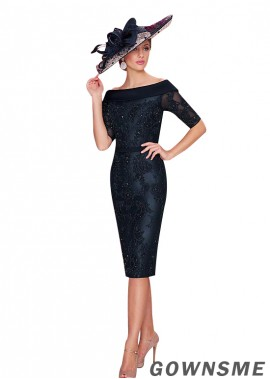 Gownsme Black Sheath Lace  Mother Of The Bride Dress  US Sale
