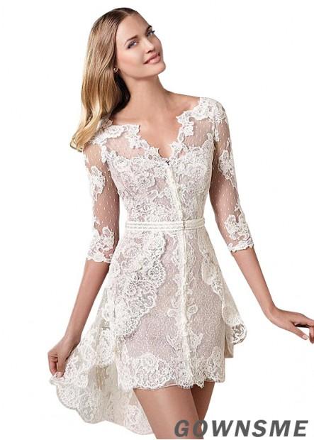 Gownsme Lace Short Wedding Dress