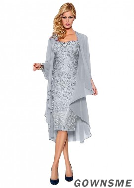Sheath Sweetheart Knee-length lace mother of the bride dress with jacket-Gownsme