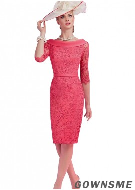 Gownsme Short Sheath Lace Mother Of The Bride Dresses For Wedding