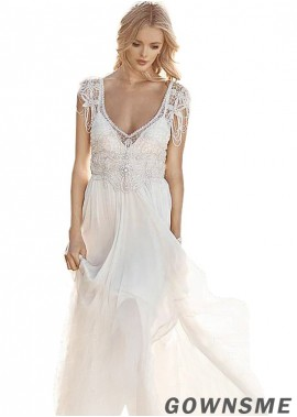 Gownsme 2021 Beach Wedding Dresses With Beading
