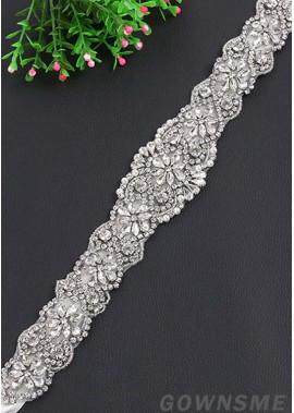 Fashion Rhinestone Flower Wedding Sashes t901555912194